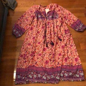Boho folktown dress NWT